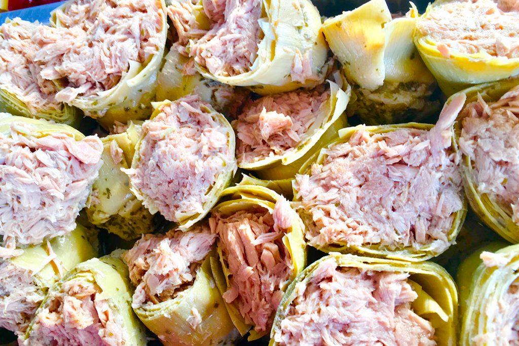 alcachofas gourmet rellenas de atún