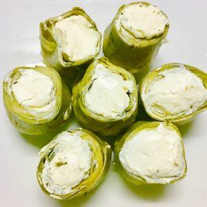 alcachofas rellenas de queso philadelphia
