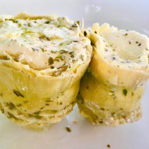 alcachofas gourmet rellenas de philadelphia