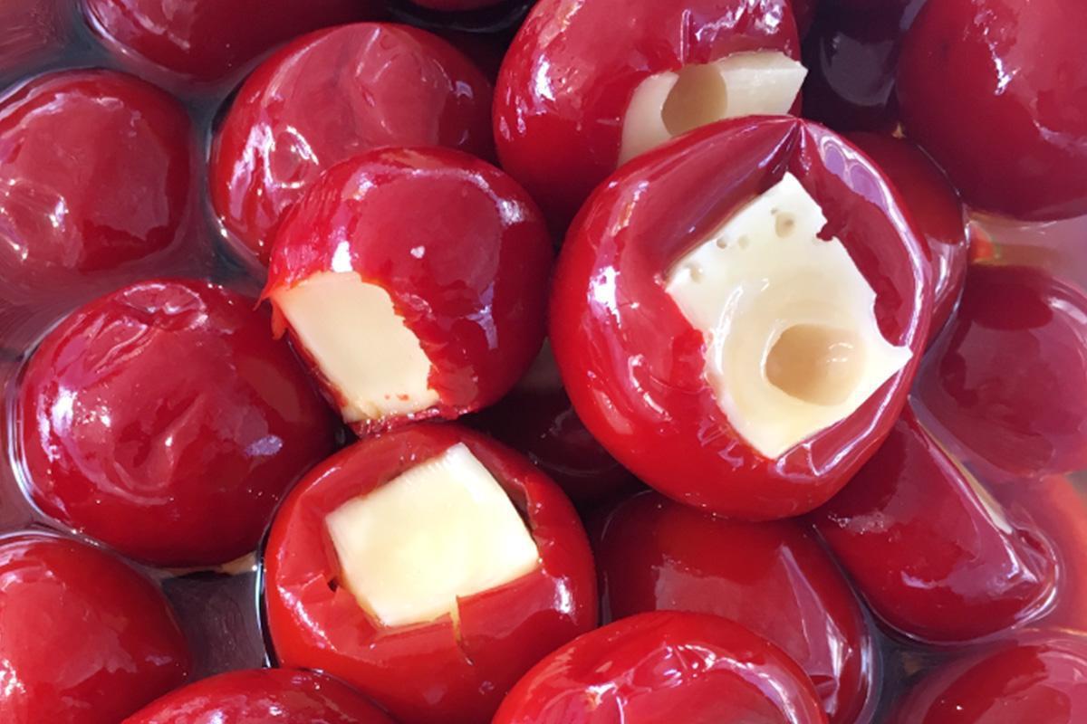 aceitunas lorente pimientos rellenos de queso tierno
