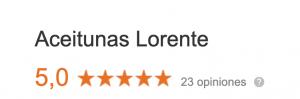 reseñas aceitunas lorente