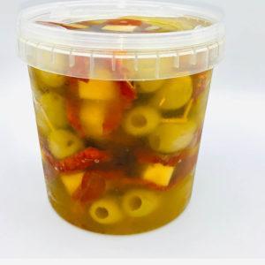 brochetas con tomate seco 1 kg