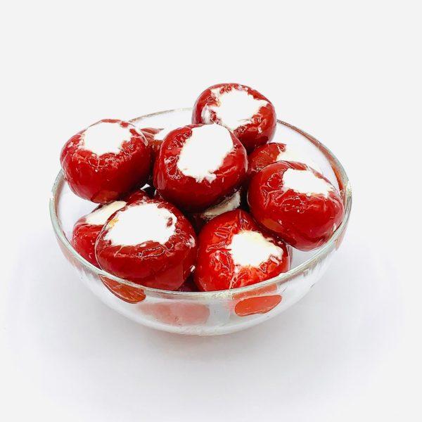 pimientos rojos con queso crema