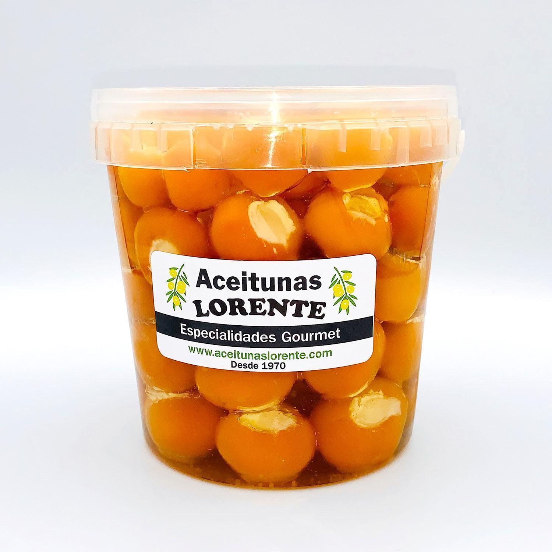 pimientos cereza amarillos con queso crema