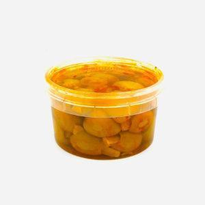 olivas rellenas de berenjena